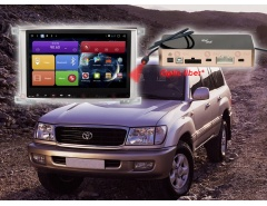 Штатное головное устройство Toyota Land Cruiser 100 автомагнитола redpower 31183 IPS