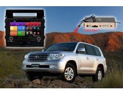 Штатное головное устройство Toyota Land Cruiser 200 автомагнитола Redpower K 51200 R IPS DSP android (черная глянцевая рамка)